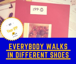 Copy of EVERYBODY WALKS IN DIFFERENT SHOES